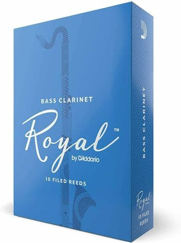 Rico Royal 2.5 Strength Reeds for Bass Clarinet (Pack of 10) - REB1025